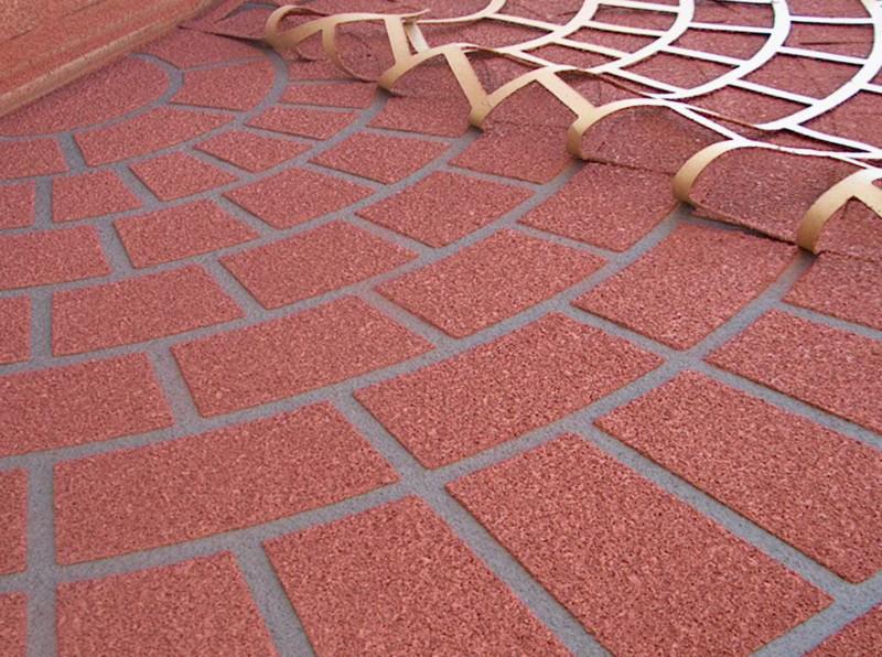 Трафарет брусчатки для бетона