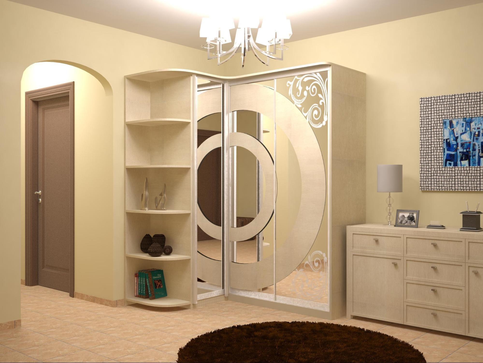 Красивый угловой шкаф в гостиную фото дизайн идеи