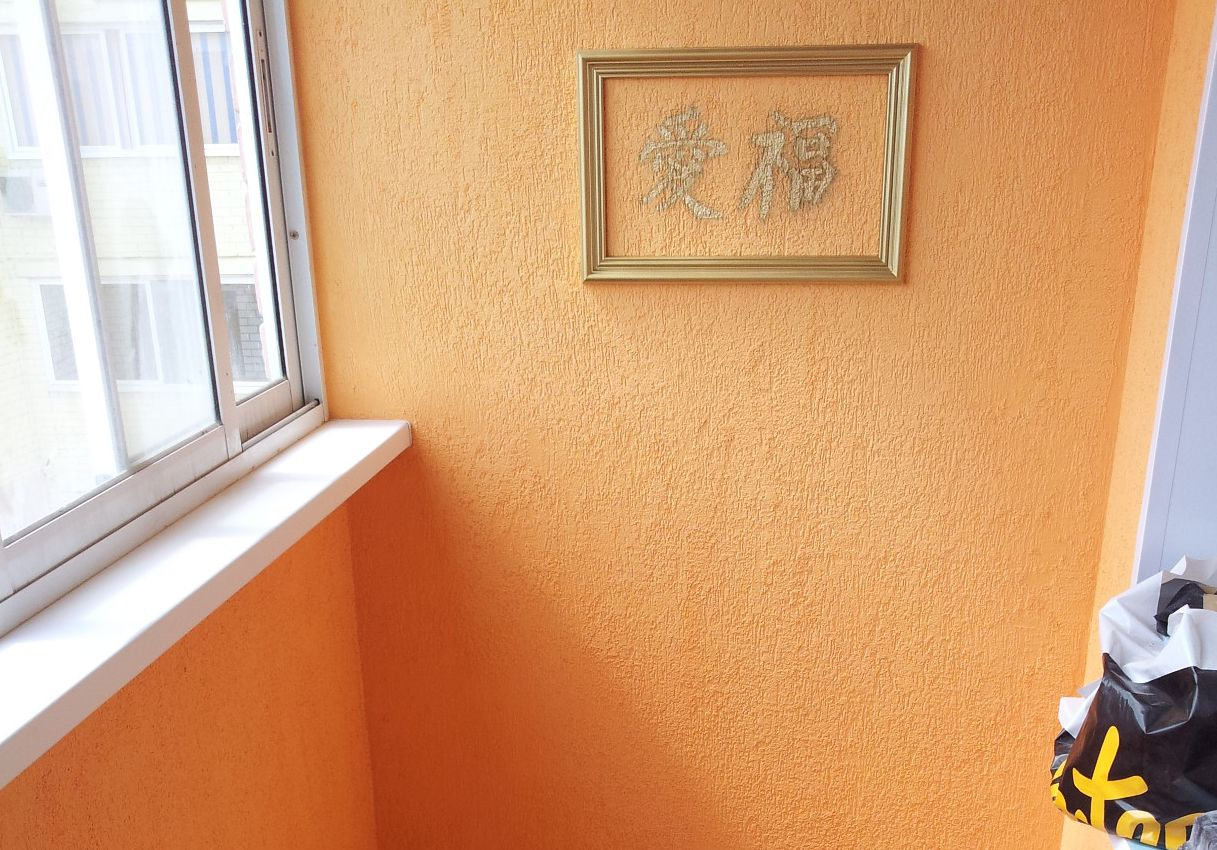 Декоративная штукатурка своими руками на балконе 64