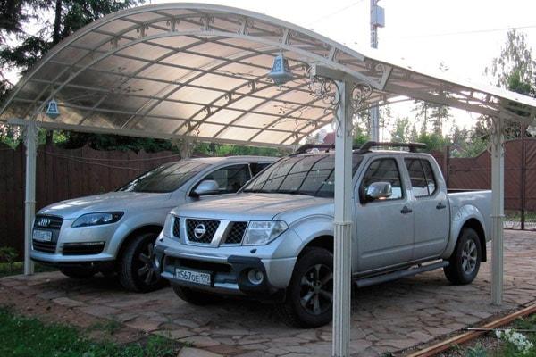 Площадка под автомобиль на даче своими руками из сотовой плитки