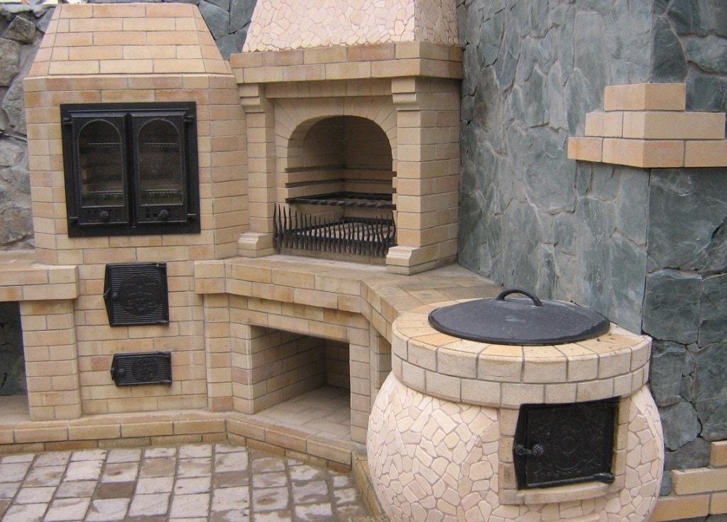 Печь восточная из кирпича