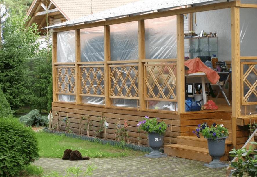Строительство летней веранды своими руками 65