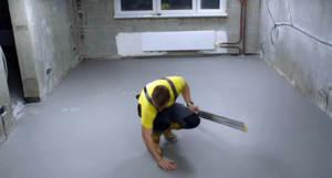 Как правильно ровнять бетонный пол