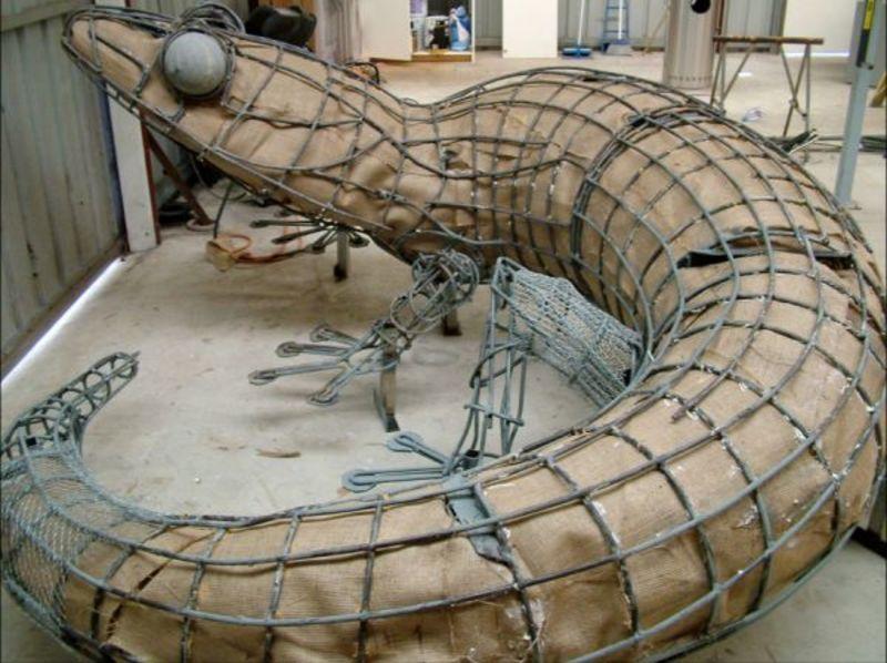 Скульптура из фибробетона технология изготовления можно ли штукатурить печь цементным раствором