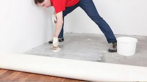 Укладка линолеума на бетонный пол инструкция