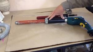 Самодельный вибратор для бетона из дрели