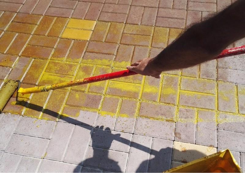 окрашивание цементного раствора