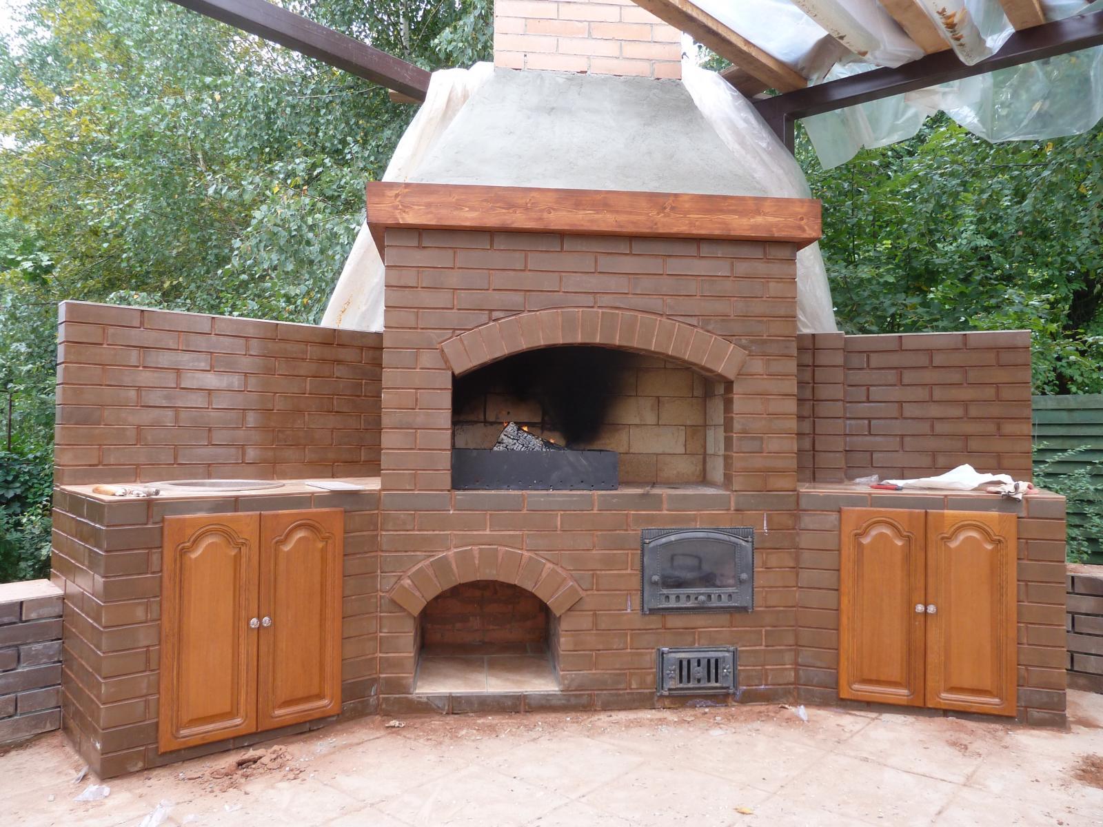 Сделать печь мангал на даче своими руками