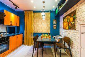 Сочетание цветов в интерьере кухни: фото, оттенки венге, зеленые, серые, желтые, немного теории