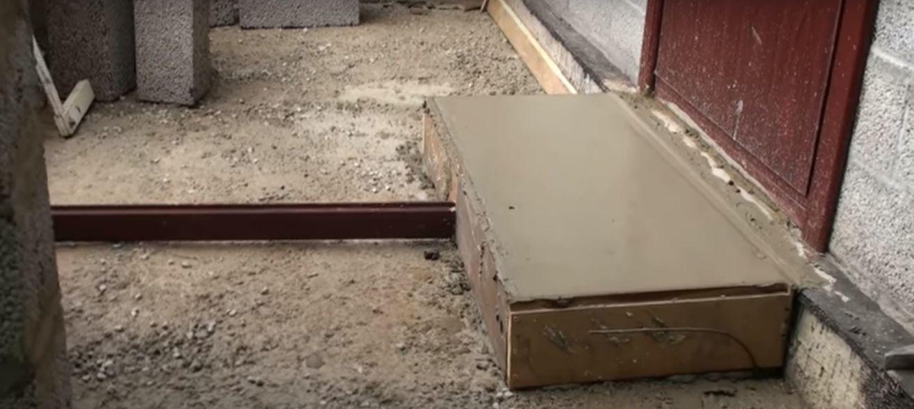 Заливаем более жидким бетоном