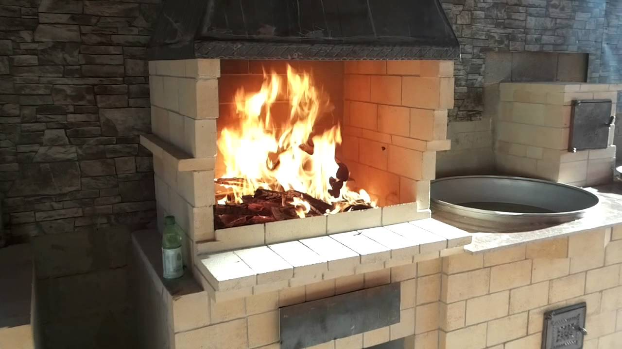 Мангал с печью под казан из кирпича своими руками чертежи и фото фото 303