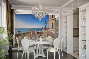Фотообои, расширяющие пространство – на кухню, в гостинной и других комнатах