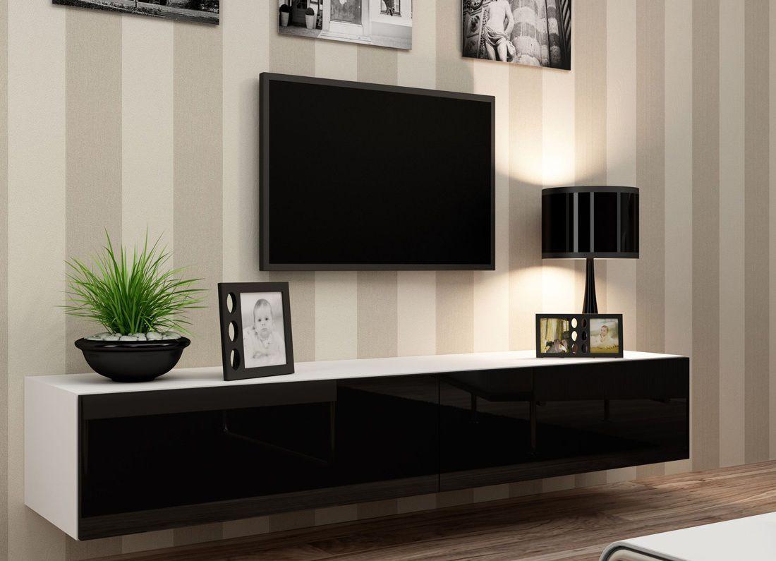 Тумба под телевизор в современном стиле - длинная, под тв, фото