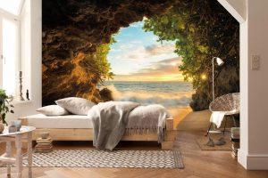 Фотообои в интерьере: фото в гостиной, кухне, спальне, прихожей, идеи дизайна квартиры и способы комбинирования