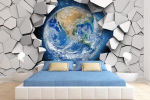 3D Обои на стену в квартире: фото для гостиной и всех других комнат, как поклеить своими руками