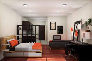 Квартира студия – фото, интерьер и планировка, а также правила зонирования и как сэкономить пространство правильно
