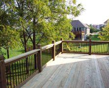 Деревянный пол на террасе