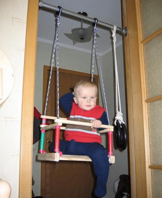 главной функцией как сделать детскую качель в доме Это