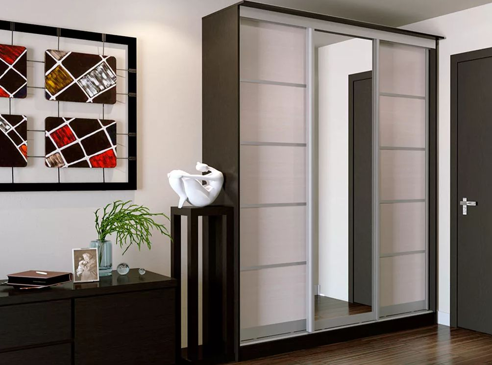 Зеркальные шкафы в прихожую (29 фото): мебель с зеркальными .