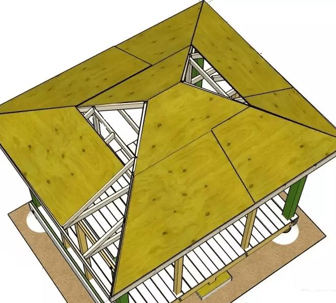 На даче сарай и место для барбекю