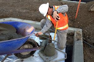 Осадка конуса бетонной смеси фундамент из керамзитобетона для теплицы
